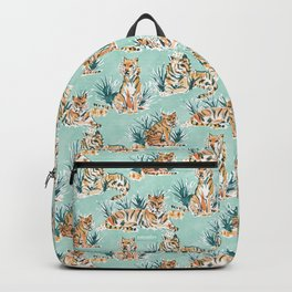 LAZY TIGERS Watercolor Cats Backpack