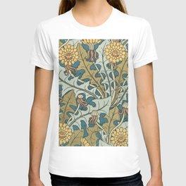 Art Nouveau Dandelion Pattern T-shirt