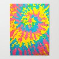 tie dye Canvas Prints featuring Tie Dye by Jillian Stanton