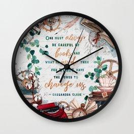 Be careful of books Wall Clock