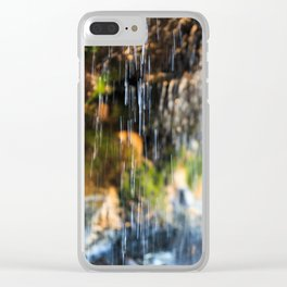 Trickle Waterfall at Otter Crest Beach, Oregon Clear iPhone Case