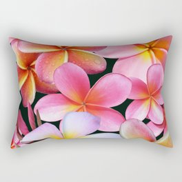 Pink Plumerias Rectangular Pillow