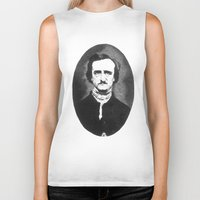 edgar allan poe Biker Tanks featuring Edgar Allan Poe by Daniel Point