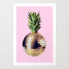 Ananas party (pineapple) Pink version Art Print