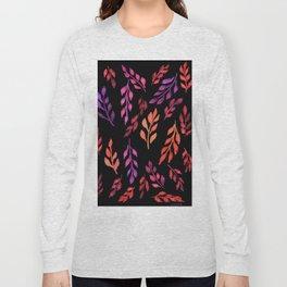 180726 Abstract Leaves Botanical Dark Mode 19 Botanical Illustrations Long Sleeve T-shirt