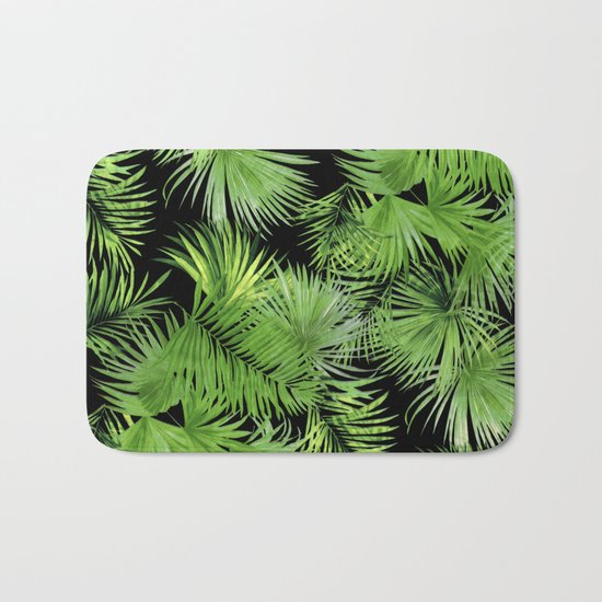 Palm Pattern Bath Mat