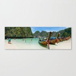 Maya Bay, Ko Phi Phi Lee Island, Thailand Canvas Print