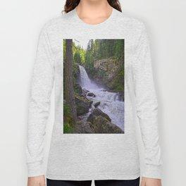 Summer Snow Melt - Waterfall & Forest Long Sleeve T-shirt