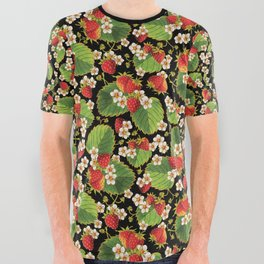 Strawberries Botanical All Over Graphic Tee