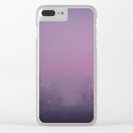 Early Morning Hazy Street Clear iPhone Case