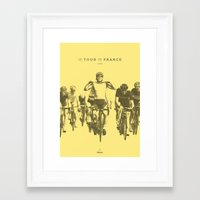 tour de france Framed Art Prints featuring Tour de France by Espresso Cycling