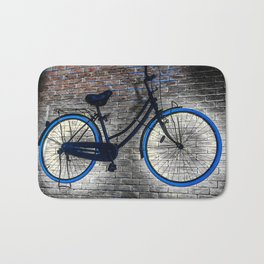 Bicycle On the Wall. Hanging Bicycle. Cycle Bath Mat