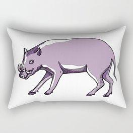 Babirusa or Deer Pig Drawing Rectangular Pillow