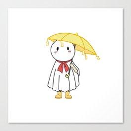 Tenki no ko nagi yellow umbrella Canvas Print