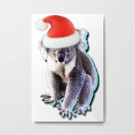 Aussie Christmas Koala! Metal Print