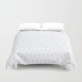 PCT2 Fractal in Ice Blue on White Duvet Cover
