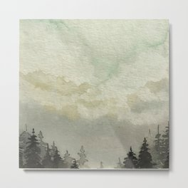 Spruce Trees After The Storm Metal Print
