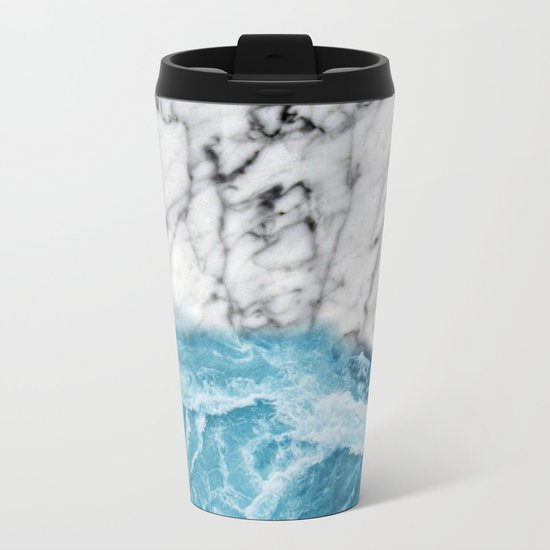 Marble sand Metal Travel Mug