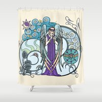 literary Shower Curtains featuring Angel of Clouds by DebS Digs Photo Art