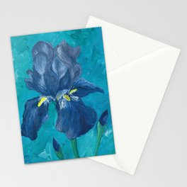 Purple Iris Artwork Stationery Cards