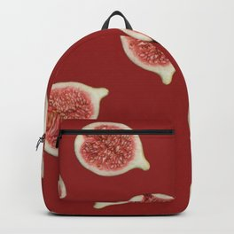 Figs Slices Food pattern red  Backpack