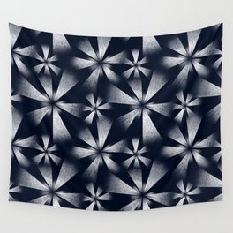 Fragmented Burst in B&W Wall Tapestry