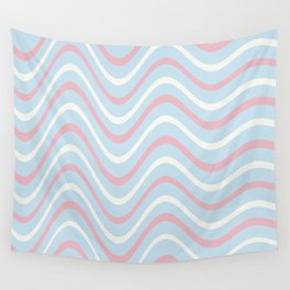 Retro Waves Design Wall Tapestry