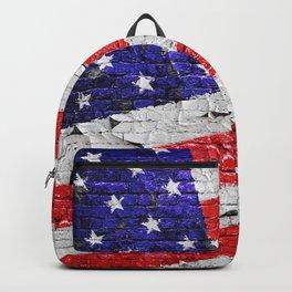Vintage Patriotic American Flag Backpack