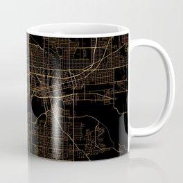 Black nd gold Des Moines map Coffee Mug
