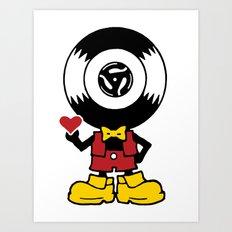 Vinyl Richie Art Print
