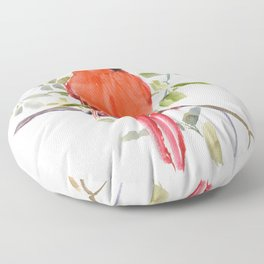 Cardinal Bird Floor Pillow