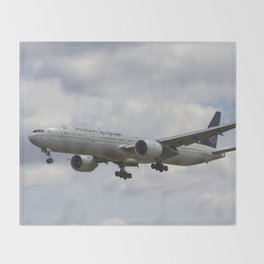 Saudi Arabian Airlines Boeing 777 Throw Blanket