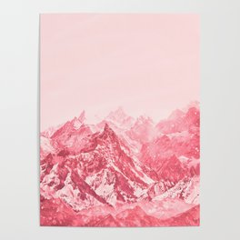 Mountains Red Poster