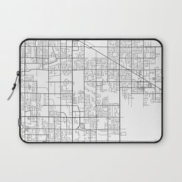 Surrey Map, Canada - Black and White Laptop Sleeve