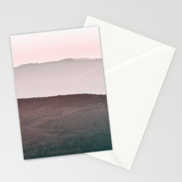 Mountain Art Print, Mountain Wall Art Landscape Stationery Cards