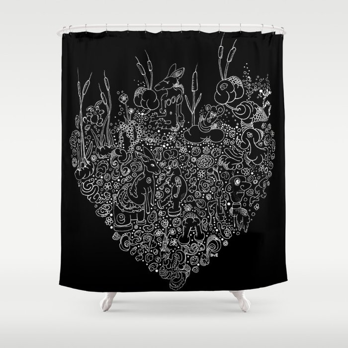 Doodle Roots Shower Curtain