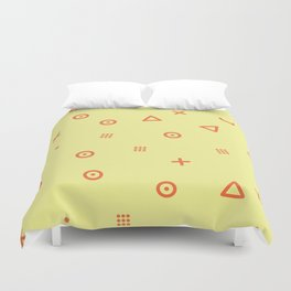Happy Particles - Yellow Duvet Cover
