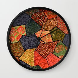 Japanese colorful quilt patchwork Wall Clock