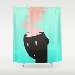 Brain combustion Shower Curtain