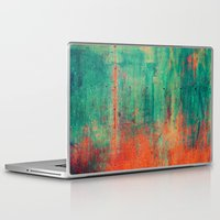 metal Laptop & iPad Skins featuring Vintage Metal by Patterns and Textures