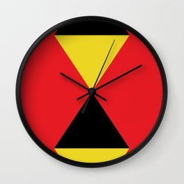 Other Rhombuses, one on another, floating in a red sea. Wall Clock