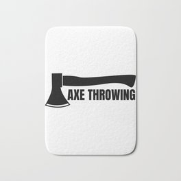 Axe throwing throwing Tomahawk double ax gift Bath Mat