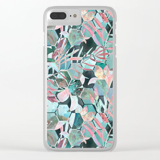 Floral, geometric abstraction Clear iPhone Case