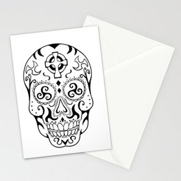 Mexican Skull Triskele Celtic Cross Tattoo Stationery Cards