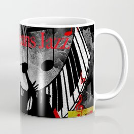New Orleans Jazz Saxophone And Piano Music Coffee Mug