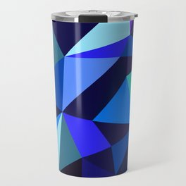 Wooden Geo Blue Travel Mug