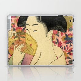 Japanese Art Print - Japanese Woman - Kushi Utamaro Laptop & iPad Skin