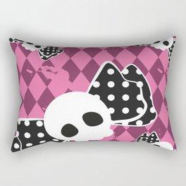gothic lolita skull pattern Rectangular Pillow