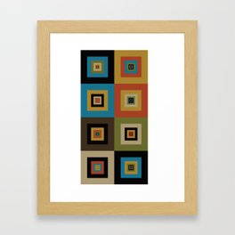 Retro Square Framed Art Print