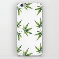 marijuana iPhone & iPod Skins featuring Marijuana Leaves  by Limitless Design